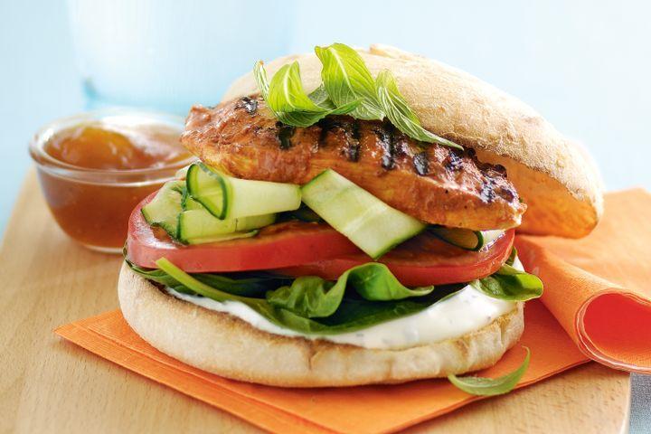 Chicken Tandoori Burger - چکن تندوری برگر