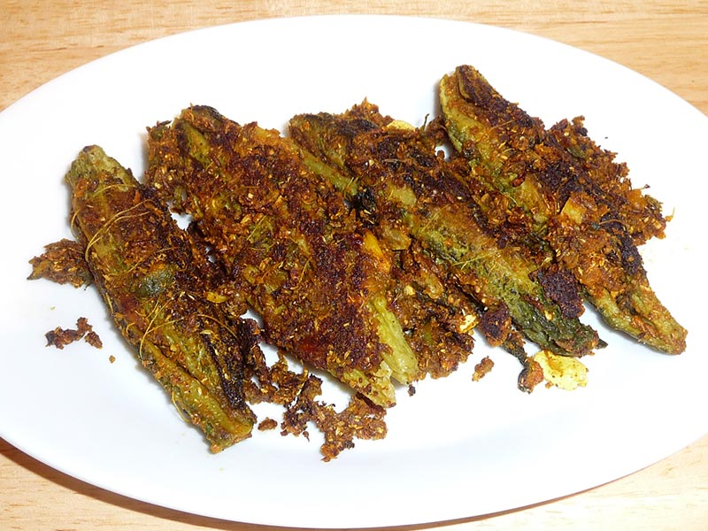 Spice Stuffed Karela - مصالحہ بھرے کریلے