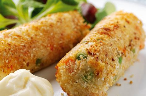 Chicken And Rice Croquettes - چکن اینڈ رائس کروکیٹس