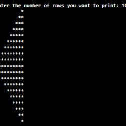 Write a java program to draw Left Pascal's Triangle