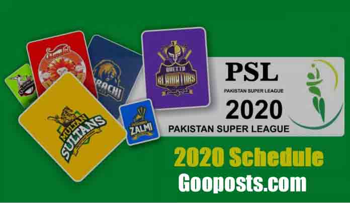 PSL Points Table 2020 | PSL Standings & Team Rankings