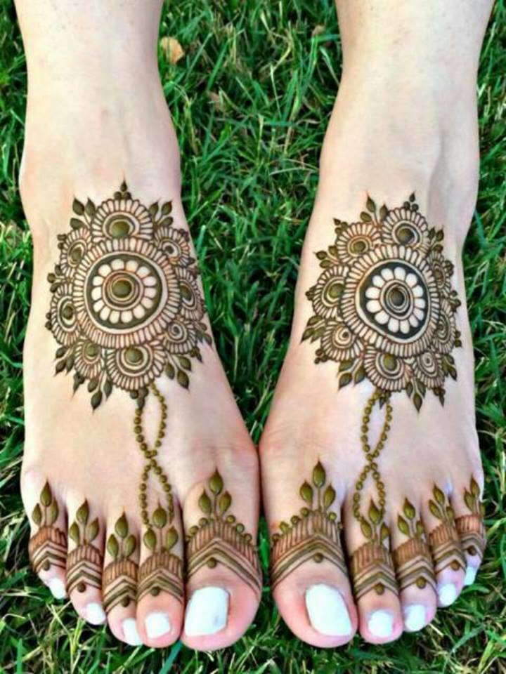 feet Mehndi designs for eid