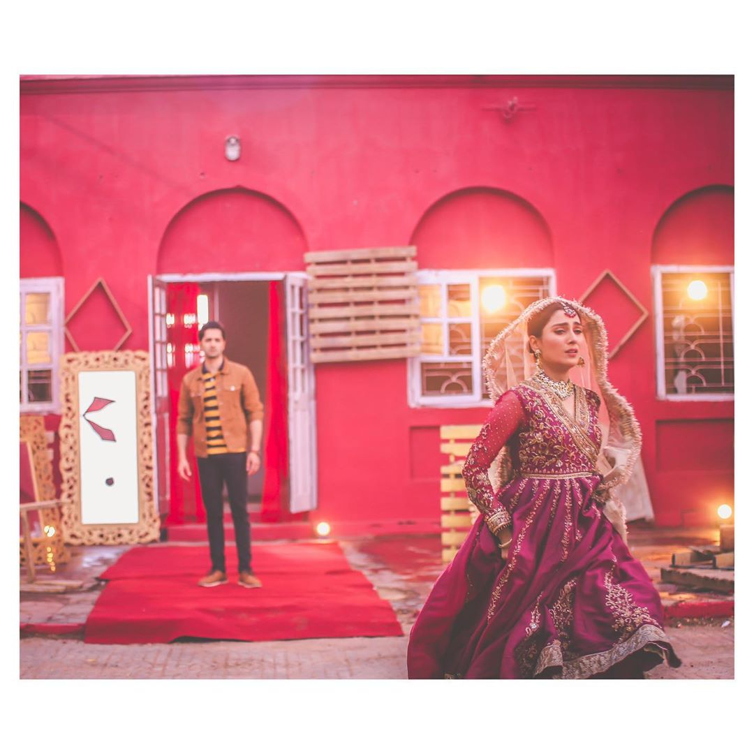 Latest Beautiful Bridal Photoshoot of Ayeza Khan with Danish Taimoor