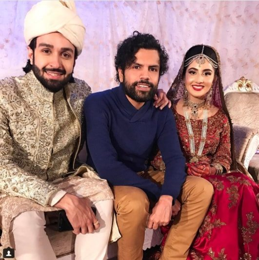Beautiful Wedding Pictures Of Actor Azfar Rehman And Fiya Sheikh