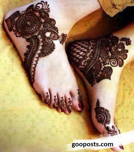 Latest Eid Ul Fitr Mehndi Designs 2018 For Feet