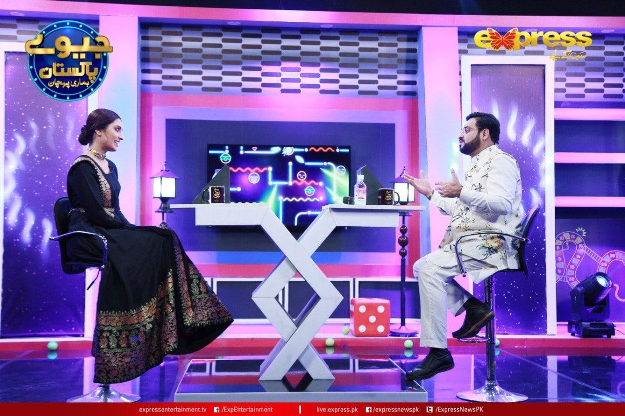Gorgeous Ayeza Khan in Amir Liaquat Show