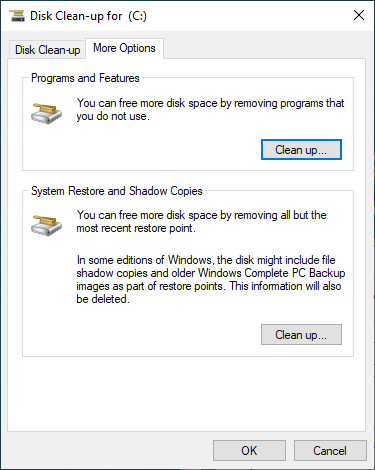 Step 4: The utility will begin to scan and analyze the hard drive and show you the result, from which you can see how much space you can get by using Disk Clean-up.