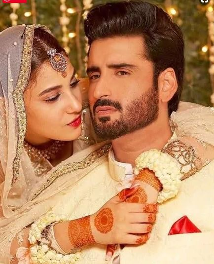 """The couple shared their pictures with fans in the past but never disclose their relationship. Everyone is surprised after hearing the news of their Nikkah. Hina Altaf and Agha Ali performed as a couple in drama serial """"Dil-e-Gumshuda"""" and with the new journey of their life started. In this drama they proved their best acting skills. Viewers admire their on-screen and real-life couple."""