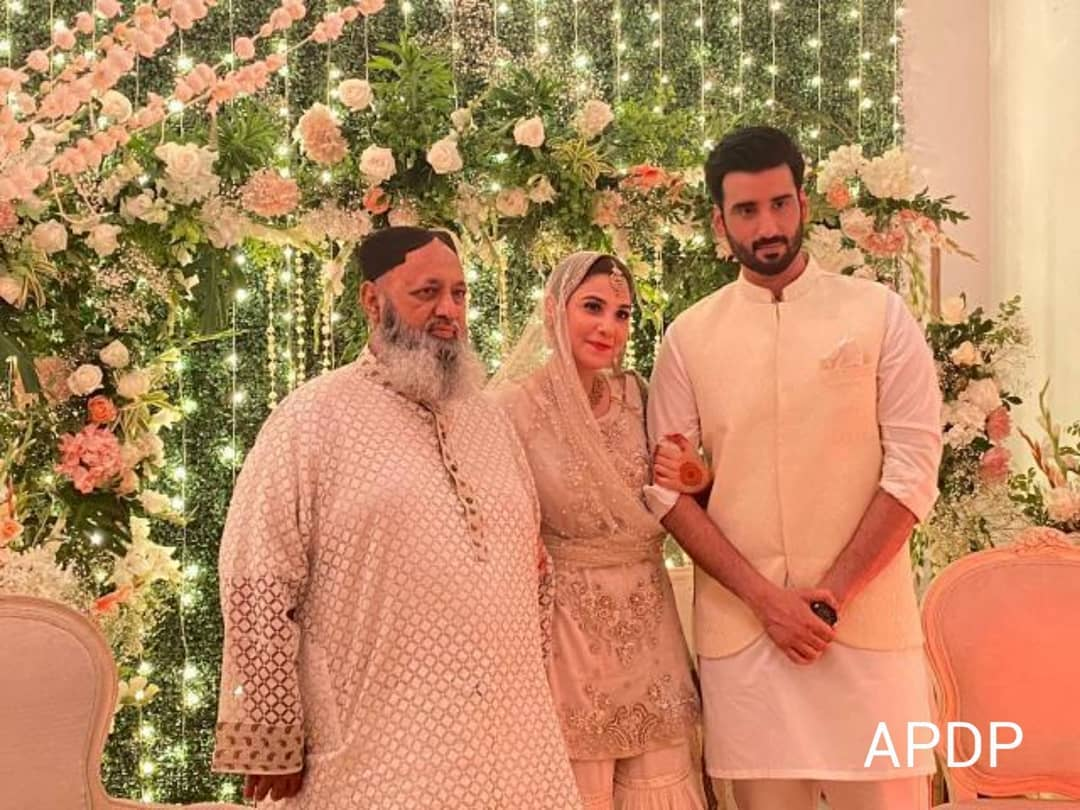 Hina Altaf and Aagha Ali Got Married in a Simple Nikah Ceremony Yesterday