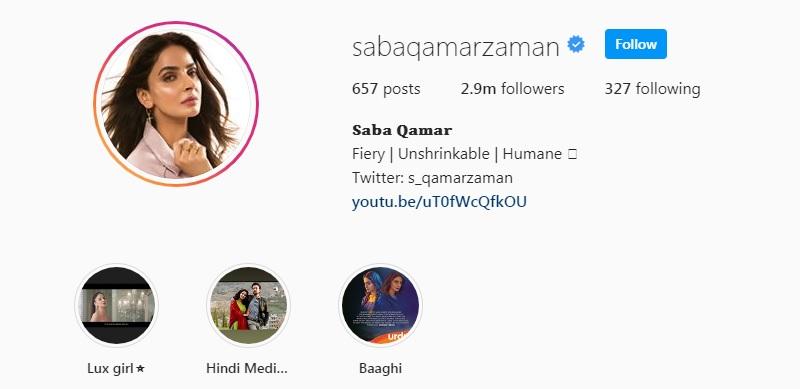 Saba Qamar Instagram