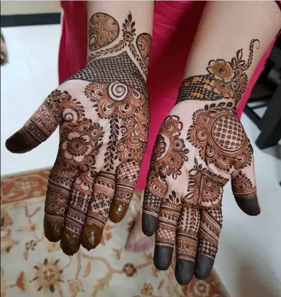 Backhand Elegant Mehndi Desig