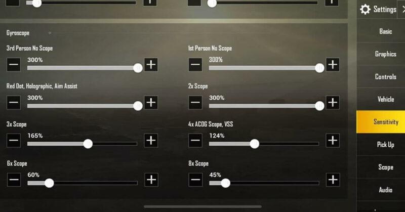 BTR Zuxxy ADS Sensitivity settings