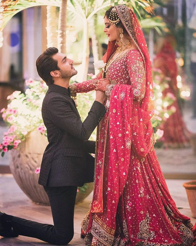 Wondrous pictures of Minal Khan and Ahsan Mohsin Wedding
