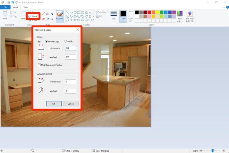 Edit JPEG in Paint