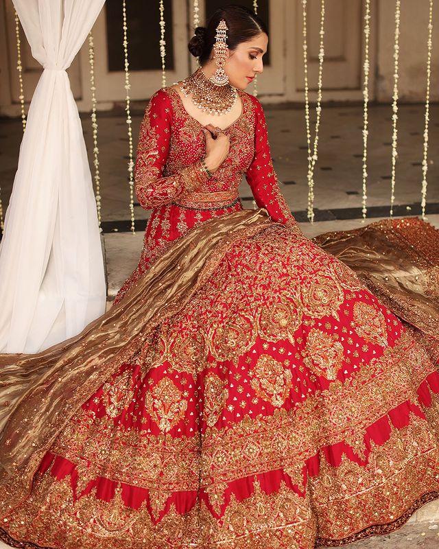 Ayeza khan bridal shoot